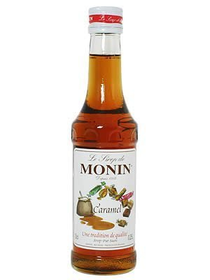 Monin Caramel Syrup, 250 ml Bottle