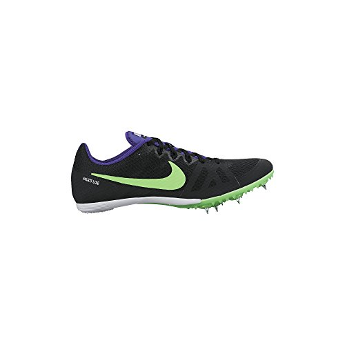 Men's Nike Zoom Rival MD 8 Track Spike Black/Fierce Purple/Green Strike Size 12 M US (Spikes Running Nike Rival D compare prices)