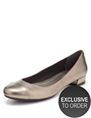 M&S Collection Leather Toe Cap Pumps