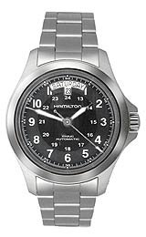 Hamilton Men's H64455133 Khaki King II Black Dial Watch from Hamilton