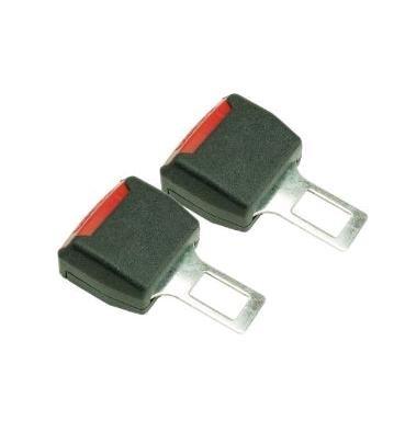 シート ベルト 警告 音 解除 キャンセラー 2 個 セット クリーニング クロス 付き (黒 ブラック)