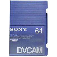 Sony PDV-64N Standard DVCAM Metal Evaporated Component Digital Video Tapes Without IC Memory Chip