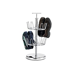 Click Here For nice Size Polder 2-Tier Revolving Shoe Tree, Chrome