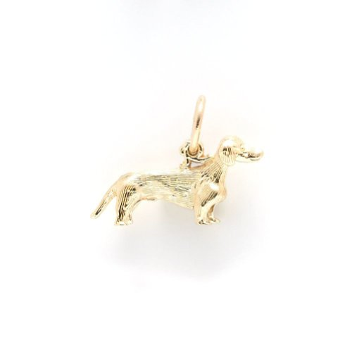 Gold Plated Dachshund Dog Charm, Charms For Bracelets And Necklaces