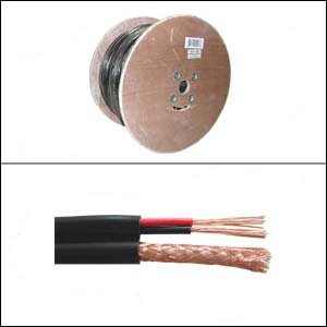 InstallerParts 1000 ft RG59 w/2x18AWG Power Black CMP