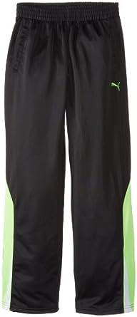 PUMA Big Boys' Slanted Pant, Black, Small