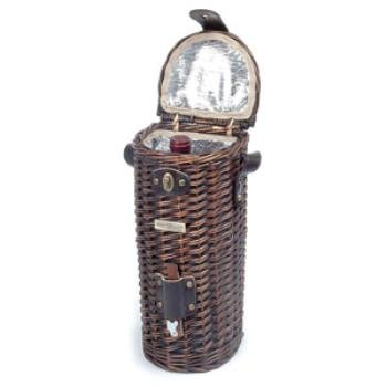 """The Vineyard Collection - A *** Product Description: ?Willow Cooler Wine Basket For 1 Bottle With Wooden Opener And Shoulder Strap Contents:): 1 Wooden Opener (Stainless Steel) Size: 5.75""""X5.25""""X13.25"""" Measurement Of Carton(Inch): 14.57 X 7.48 X *** front-554553"""