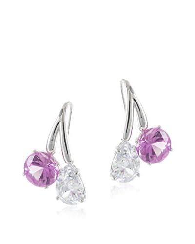 CZ by Kenneth Jay Lane 22Cttw Multi Cz Ear Pierced Double Stone Drop, 1.5 Long Size