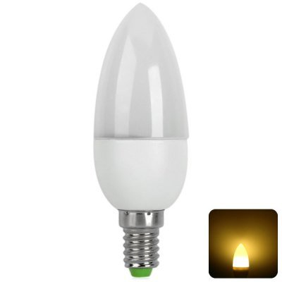 Comple 10 X 2835-Smd Leds 2W E14 Based 150Lm Ac-220V 3000K Led Candle Light Lamp With Flame