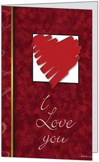 Valentines Day Love Red Heart Spouse Husband Beautiful Wife Sweetheart Greeting Card 5x7 by QuickieCards