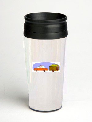 16 oz. Double Wall Insulated Tumbler with vacation - Paper Insert