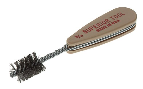 """Superior Tool 18634 Stainless Steel Fitting Brush, 3/4"""""""