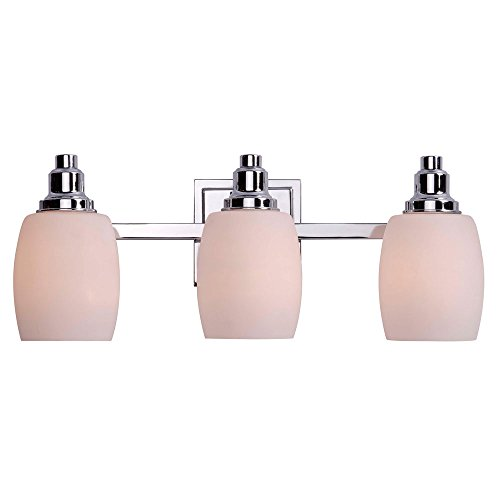 Kenroy Home 93483CH Greenwich 3-Light Vanity Light, Chrome