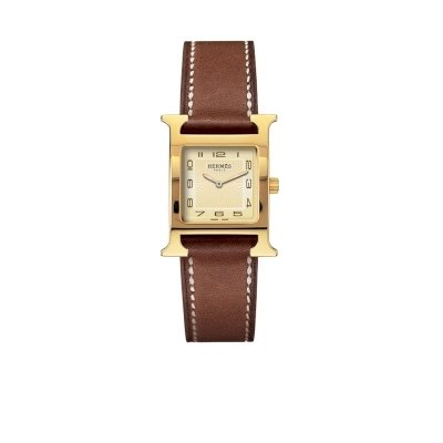 Hermes H Hour Small Ladies Gold Plated Quartz Watch - 036731WW00