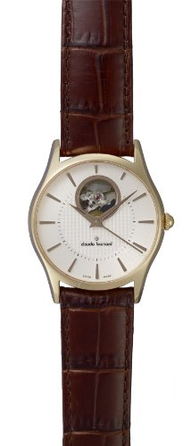 Claude Bernard Men's 85009 37R AIR Classic Automatic Rose Gold PVD White Dial Exhibition Watch