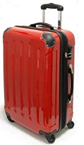 Lightweight Expander Wheeled Suitcase with 4 Wheels 75cm XXL Volume Red by Koffer-Experte