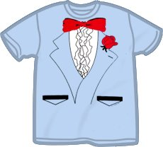 Light Blue Tuxedo T-Shirt