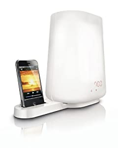 Philips HF3490 Wake-up Light with Dock for iPod