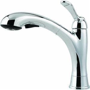 Pfister Clairmont 1-Handle 1 or 3-Hole Lead Free Pull-Out Kitchen Faucet Polished Chrome