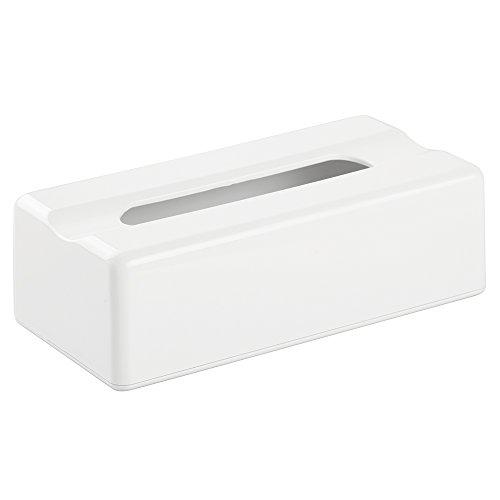 Interdesign Facial Tissue Box Cover Holder For Bathroom Vanity Countertops White Health Beauty