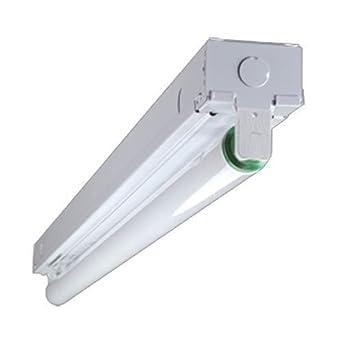 ft 1 lamp fluorescent strip light lighting fixtures. Black Bedroom Furniture Sets. Home Design Ideas