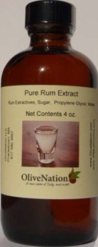 Pure Rum Flavor by OliveNation - Natural Rum Flavoring for Boost Up Recipes - Size of 4 oz, Just in $3.55 (Natural Rum Extract compare prices)