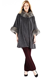 M&S Collection Faux Fur Collar Fleece Wrap