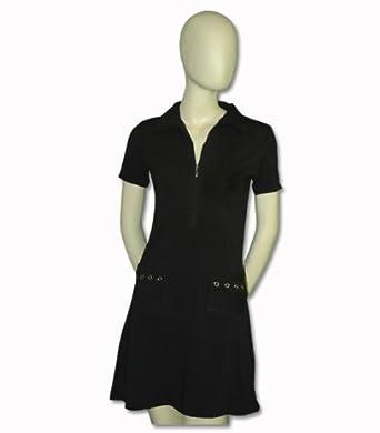 Titania Golf Ladies Moisture Wicking Golf Dress in Black with Rhinestone Pattern by Titania Golf