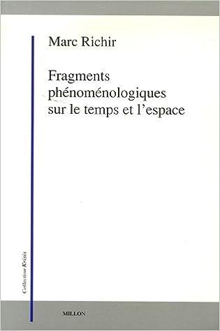 Fragments phénoménologiques sur le temps et l'espace Book Cover