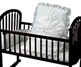 Baby Doll Bedding Carnation Eyelet Cradle Set, White