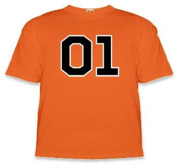 "Dukes of Hazzard ""01"" General Lee T-shirt Orange"