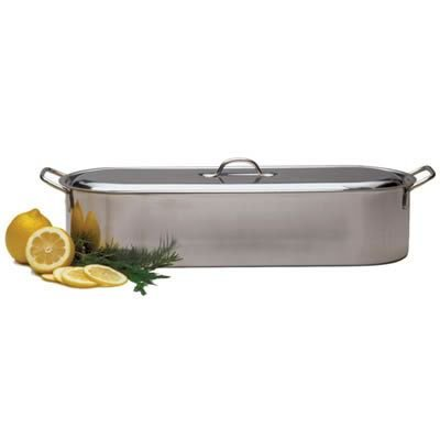 Rsvp Endurance Stainless Steel Fish Poacher Pan With Handles, 18 X 7 Inch front-498695