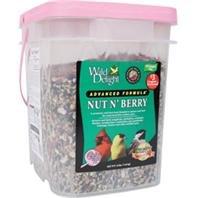 Wild Delight 382316 Nut N Berry Pail Wild Bird Food, 16-Pound