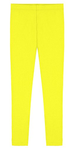 popular-little-girls-cotton-ankle-length-leggings-yellow-6