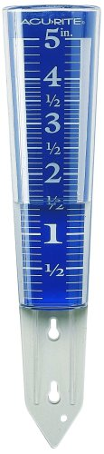Chaney Instrument 5-Inch Capacity Easy-Read Magnifying Rain Gauge
