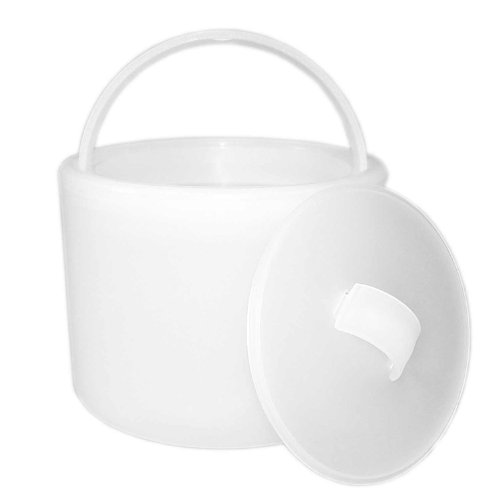 "Party Essentials Hard Plastic 6-1/2"" Ice Bucket with Lid, Translucent"