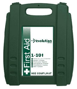 New. Safety First-Aid Standard Statutory Kit with Wall Bracket 1-10 Persons W170xH260xD80mm Ref K10T