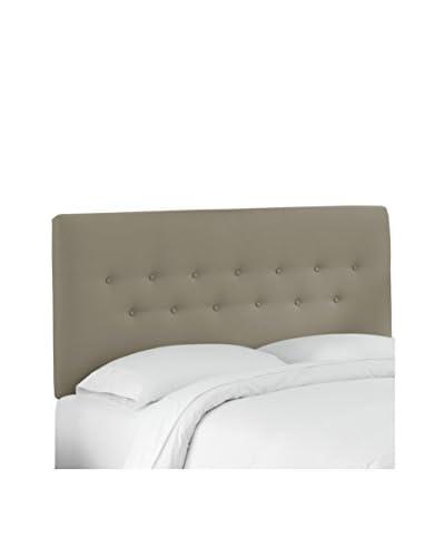 Skyline Furniture Queen Button Headboard, Duck Grey