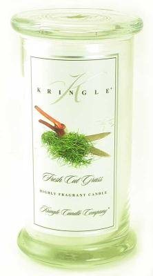 Kringle Candle Company Large Classic Apothecary Jar - Fresh Cut Grass