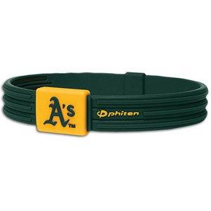 Athletics Phiten Titanium Bracelet X30 ( sz. M, Oakland Athletics : Athletics )