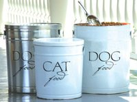 Harry Barker White Dog Food Storage Canister