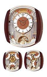Seiko Melodies in Motion Swarovski® crystals Wall clock #QXM450BRH