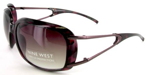Women's Nine West UV Lens Sunglasses Metallic Tortoise