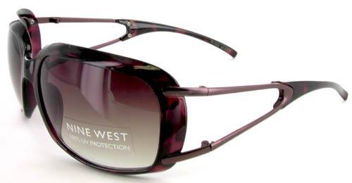 Women's Nine West UV Lens Sunglasses Metallic Tortoise