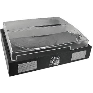 SPT-106-PB 3-Speed USB Turntable/Vinyl Archiver with Built-In Speakers & AUX line-out