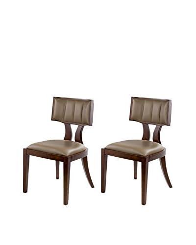 International Design Pulitzer Set of 2 Dining Chairs, Mocha