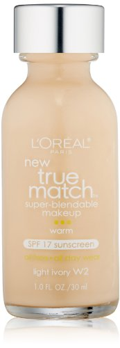 L'Oreal Paris True Match Super Blendable Makeup, Light Ivory, 1.0 Ounces