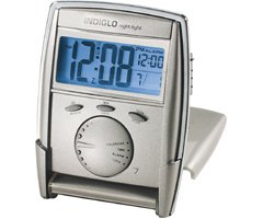 Indiglo® Travel Alarm Clock with Multifunction Display