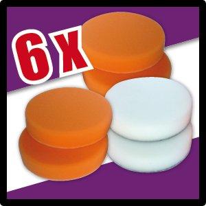 6 Piece polishing sponge set for polishing machines