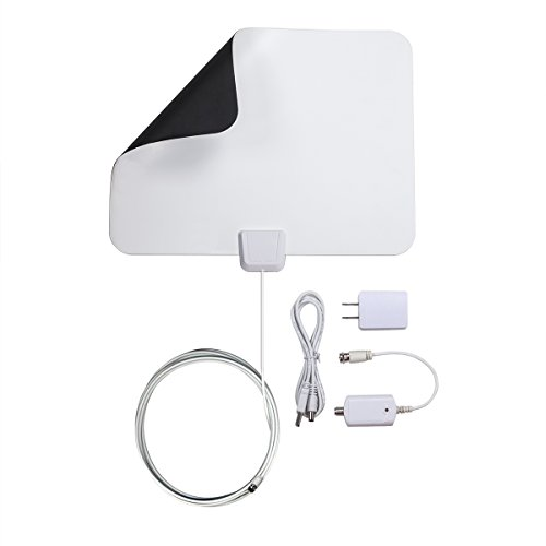 DuaFire Digital Ultra-Thin Indoor HDTV Antenna, 50 Miles Range with 13ft High Performance Coax Cable, Free Get the Ultra high Definition TV Signals (White) (Indoor Medium Directional Antenna compare prices)